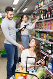 People buying beverages Royalty Free Stock Image