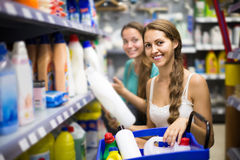 People buying detergents  in the shopping mall Stock Image