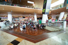 People Buying Fast Food in Baneasa Shopping Mall Royalty Free Stock Photos
