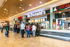 People Buying Fast Food Stock Image