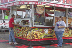 People Buying Fast Food at the Fair Royalty Free Stock Photography