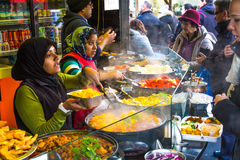 People buying food at Camden Food Market Stock Photography