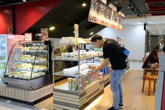 People buying food and drink in coffee shop Thailand bangkok Royalty Free Stock Photography