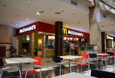 People buying food at Mc Donald's Stock Photography