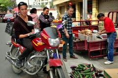 Pengzhou,China: Tian Fu Marketplace Royalty Free Stock Photos