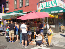 People buying gelatto at Little Italy in New York Stock Photography
