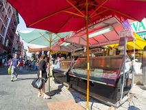 People buying gelatto at Little Italy in New York Stock Photos