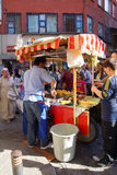 People buying roasted corn Royalty Free Stock Photo
