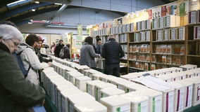People buying tea stock video