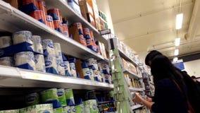 People buying Tetley tea stock video