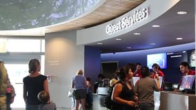 People buying ticket inside Vancouver aquarium Royalty Free Stock Photos