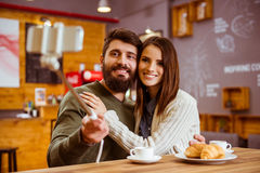 People in cafe Royalty Free Stock Photos