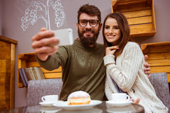 People in cafe Royalty Free Stock Photography
