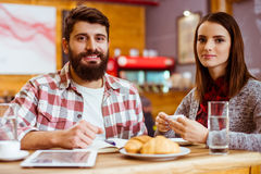 People in cafe Stock Images