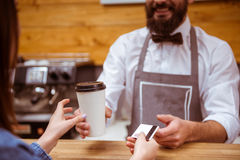 People in cafe Royalty Free Stock Photo