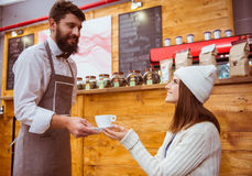 People in cafe Royalty Free Stock Image