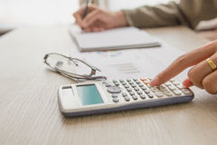People calculate about cost at home ,Finance managers task. Royalty Free Stock Photo