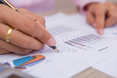People calculate about cost at home ,Finance managers task. Royalty Free Stock Photography