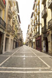 People on Calle Nueva in Pamplona city center Stock Photography