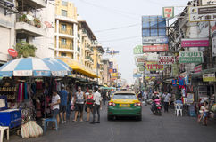 People called and negotiation taxi at Khaosan Road Stock Photography