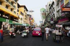 People called and negotiation taxi at Khaosan Road Stock Photos