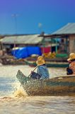 People from Cambodia (Tonle Sap lake) Royalty Free Stock Images