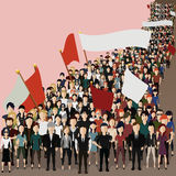 People came to the meeting. Vector illustration in the form of people who came to hold a meeting Royalty Free Stock Photos