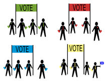 People campaigning. For British political parties illustration vector illustration