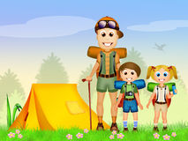 People camping Royalty Free Stock Images