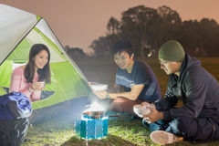 People are camping Royalty Free Stock Image