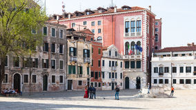 People on Campo San Polo in Venice Stock Photos