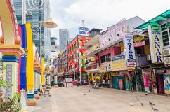 People can seen exploring around Brickfields Little India in KL, it was transformed by the Indian community into a wide street wit stock photos