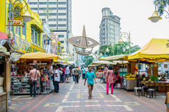 People can seen walking and shopping around Kasturi Walk alongside Central Market,Kuala Lumpur Royalty Free Stock Image