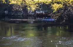 People are canoeing on the Suwanee river. Royalty Free Stock Images