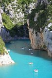 People in canyon Verdon Royalty Free Stock Photography