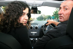 People in car royalty free stock photography