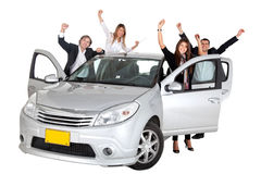 People with a car Stock Photos