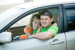 People at the car Stock Photography