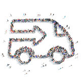 People  car conveyor icon Stock Photography