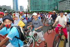 People Car free day Stock Image