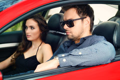 People in a car Stock Images