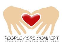 People Care. Concept, two hands forming a heart Royalty Free Stock Image