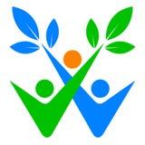 People care logo. Illustration of people care logo design isolated on white background Stock Image