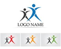 People care success health life logo template icons.  royalty free illustration