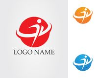People care success health life logo template icons.  vector illustration
