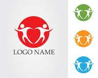 People care success health life logo template icons.  stock illustration