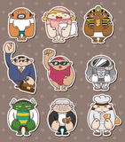 People  caree stickers Royalty Free Stock Image