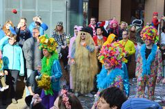 People at a carnaval parade in Holland Royalty Free Stock Image