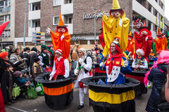 People at a carnival in Cologne Royalty Free Stock Photo