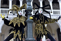 People in carnival masks, Venice Stock Photography
